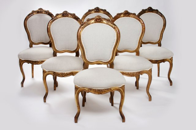 Set of twelve French chairs