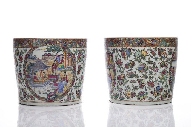 Pair of cachepots,
