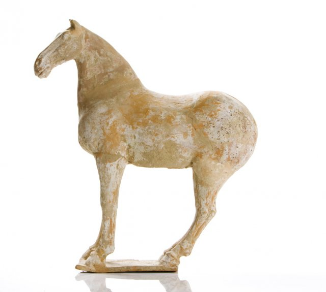 Cavalo chinês em terracota