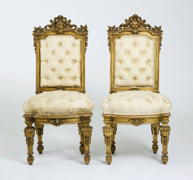 A pair of french Louis XIV style chairs