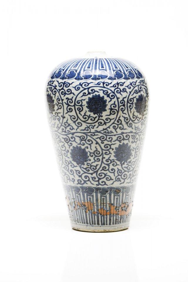 Importante e raro vaso Meiping