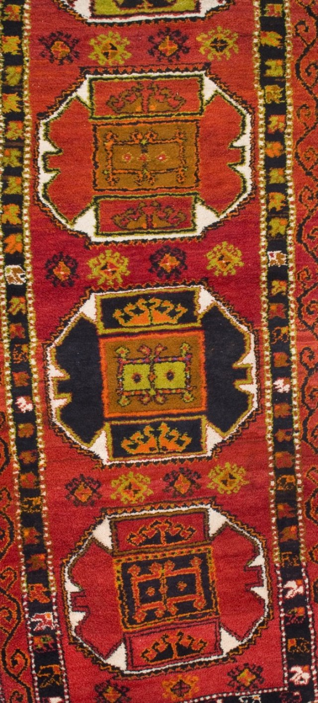 An wooll and cotton oriental carpet