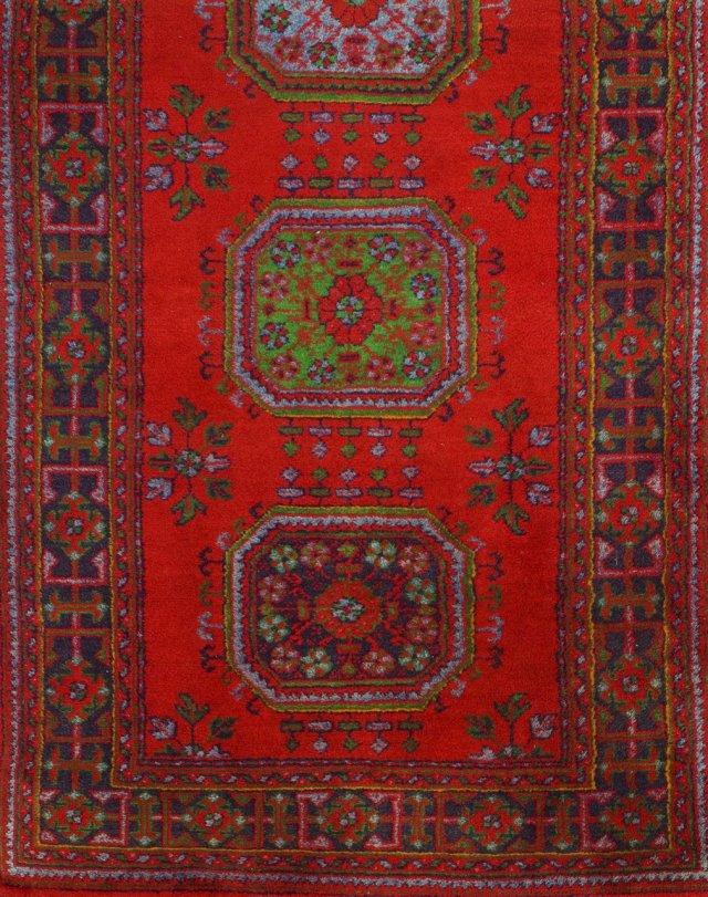 Tapete Oriental em lã e algodão