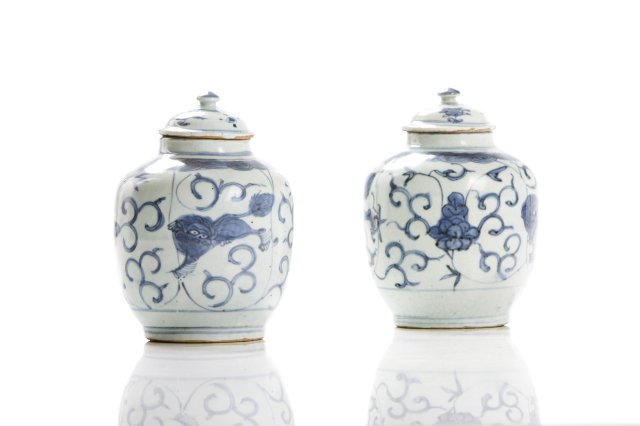 Pair of Ming vases and covers