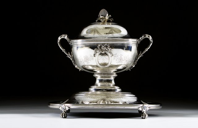 A large century silver tureen