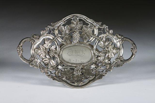 Cesto em prata portuguesa
