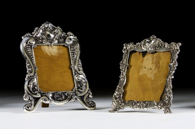 A portuguese silver frame in the barroque manner
