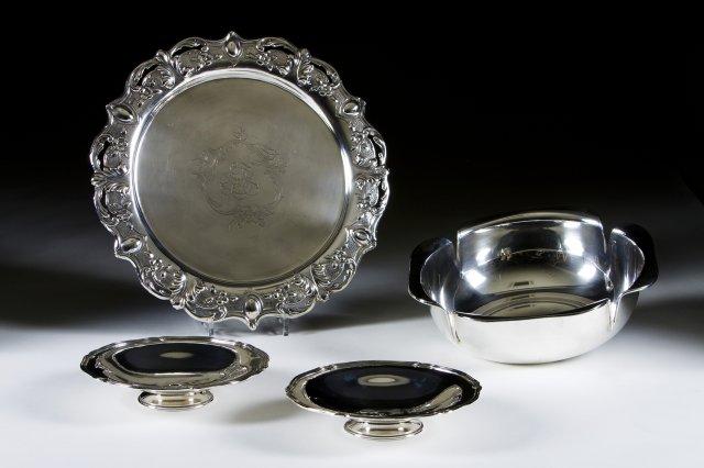 Salva em prata portuguesa