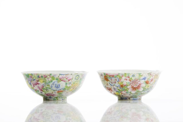 "Pair of ""mille-fiore"" bowls"