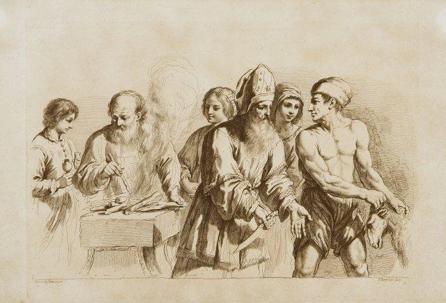 A Sacrifice segundo Guercino