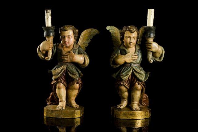 Par de Anjos candelários do Séc. XVIII