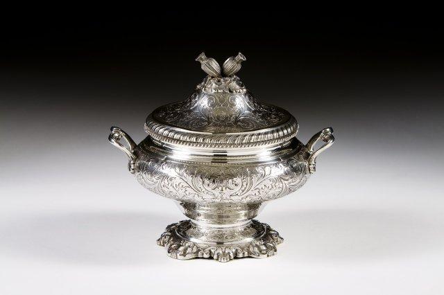 A Portuguese silver tureen