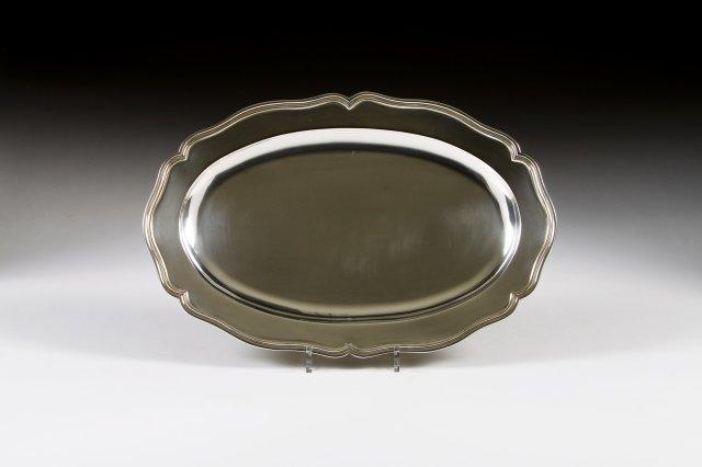 A Portuguese silver oval dish