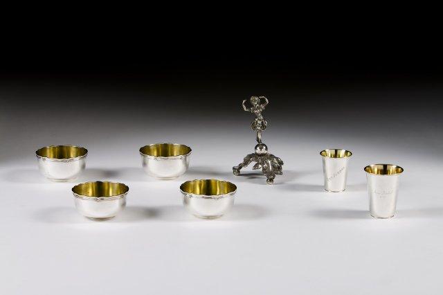 Two Portuguese silver cups