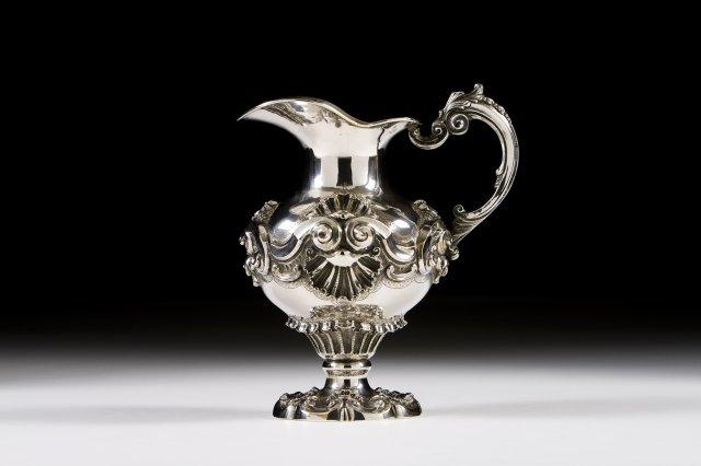 A Portuguese silver ewer