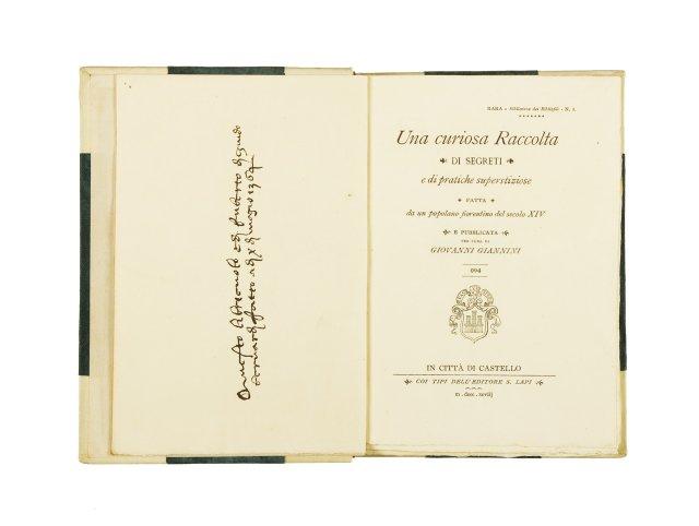 BERNARDI, Ruberto di Guido, ; GIANNINI, Giovanni, (edit.)