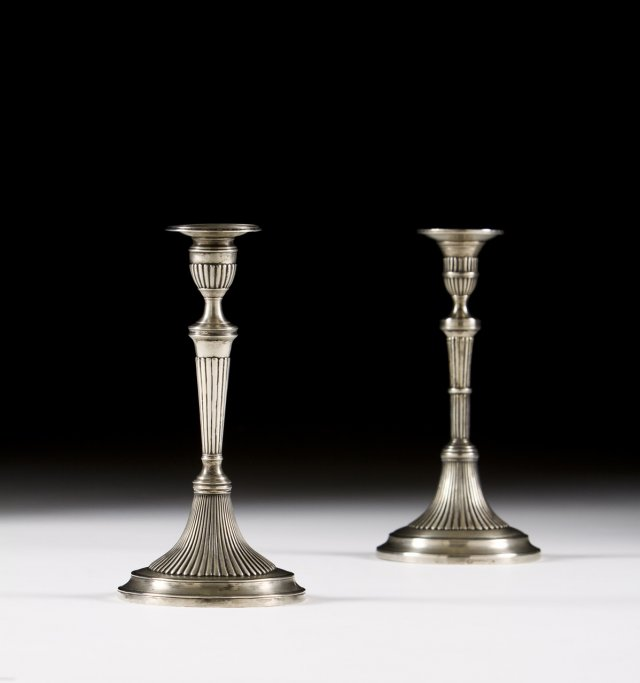 Two candlesticks.