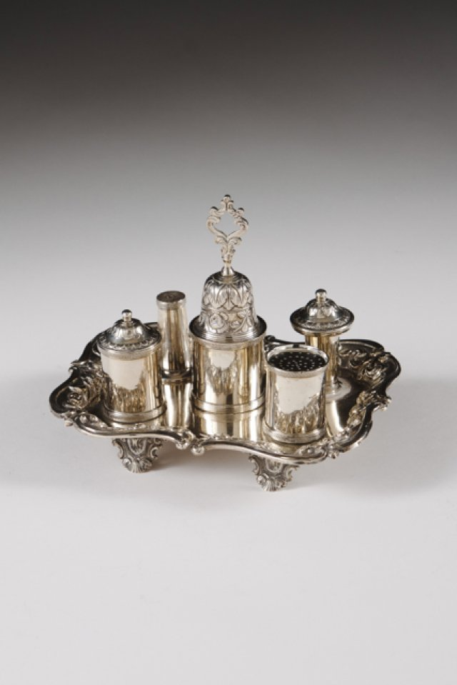 Romantic Portuguese silver table