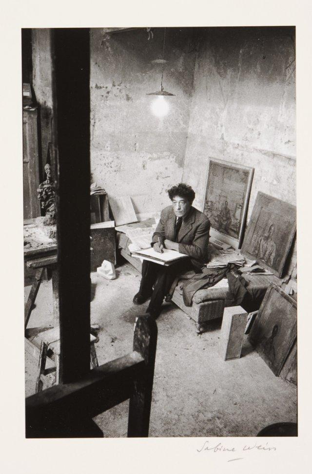 """Alberto Giacometti dans son atelier"""", 1954"""