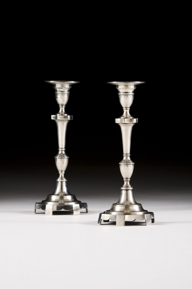 Silver candlesitcks