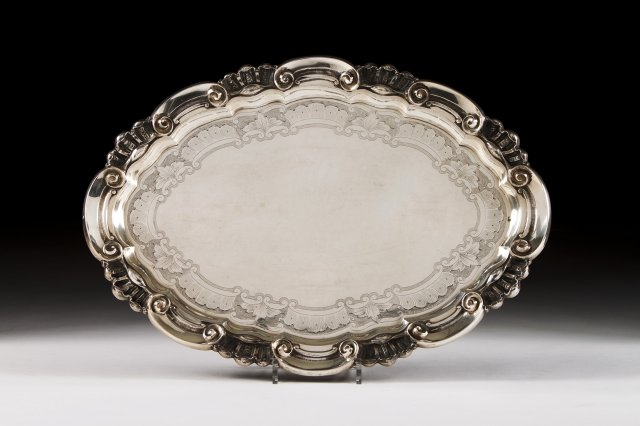 Silver Oval Dish