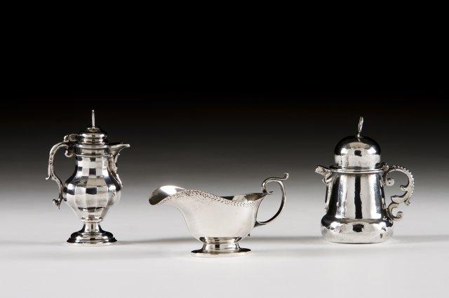 A 19th century Spanish silver service cruet.