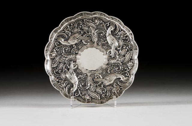 A Portuguese silver salver in the Renaissance manner