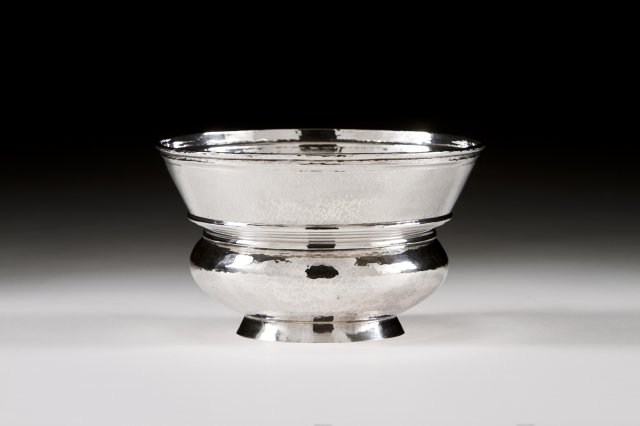 A Portuguese silver bowl.