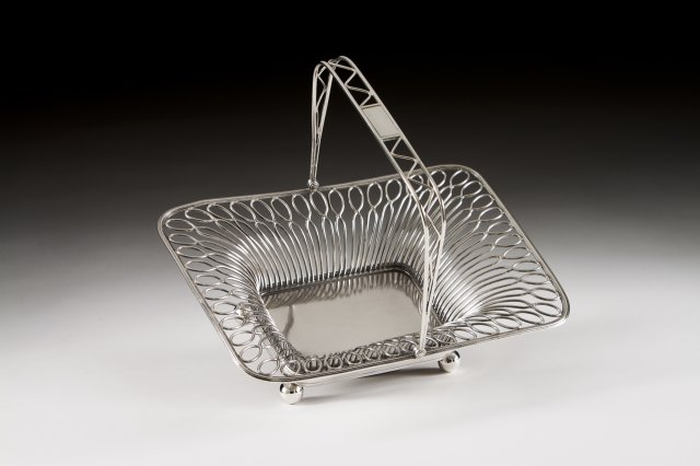 A late 19th, early 20th century Portuguese silver basket