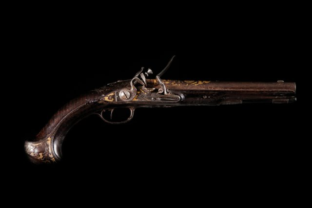 A French flintlock pistol, by Alexandre Chateu, 1st half of the 18th century