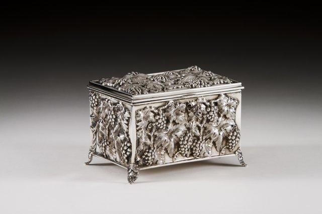 A Portuguese silver jewellery box