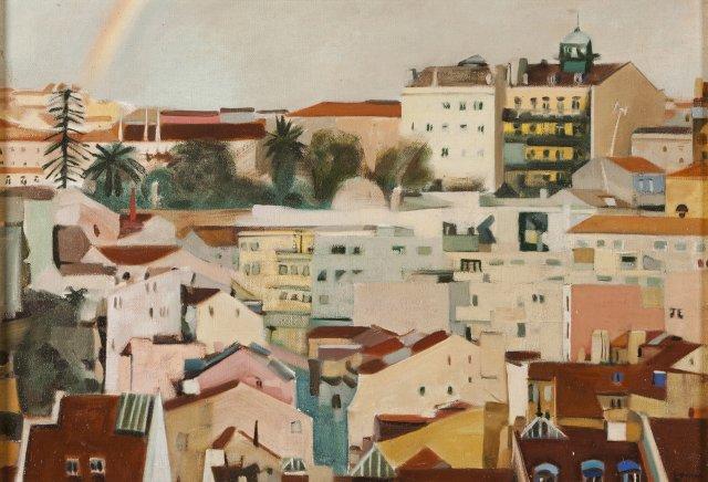 Vista de Lisboa (com arco-íris)