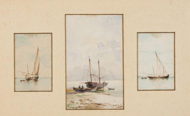 Marinhas com barcos