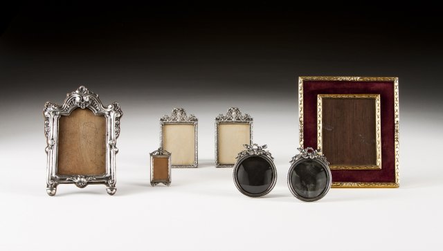 A portrait frame with portuguese silver mount