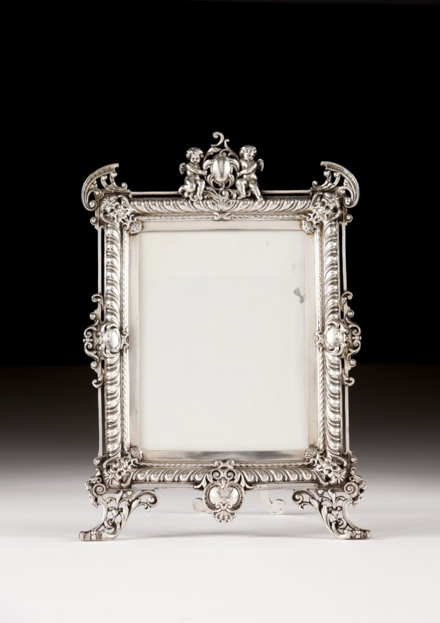A pewter frame