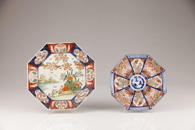 A Meiji porcelain octogonal dish