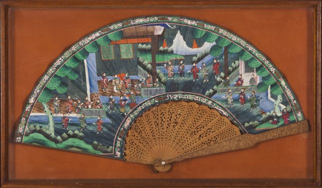 A 19th century Chinese fan