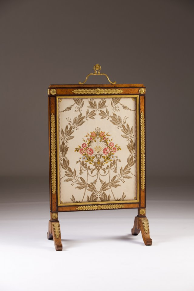 A Louis Phillipe fire screen