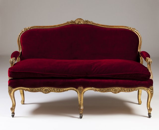 A 19th century Louis XV style set of furniture