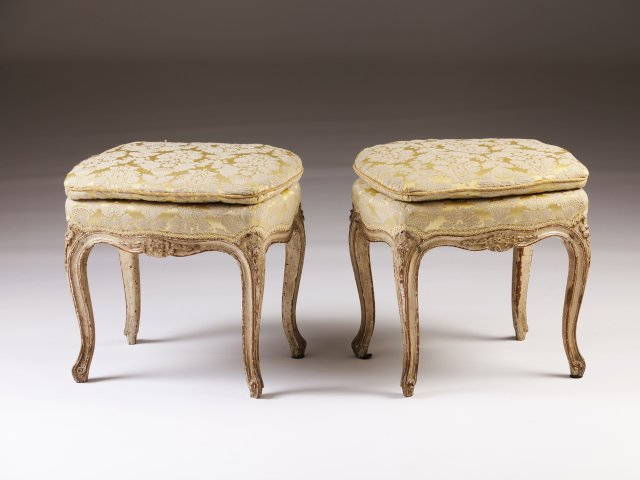 A pair of Louis XV stools