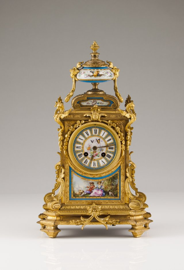 A 19th century French gilt bronze table clock