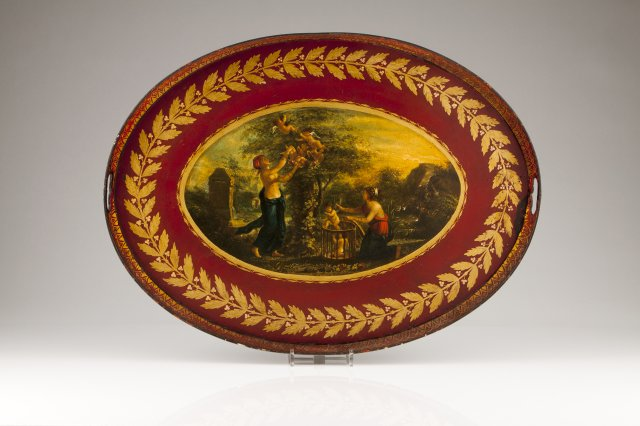 A late 18th, early 19th century English tray