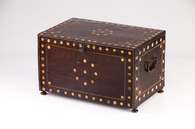 A 17th century Indo-Portuguese rosewood cabinet