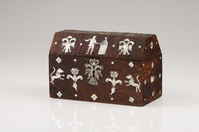 A late 17th, early 18th century Hispano-Colonial tortoiseshell coffer