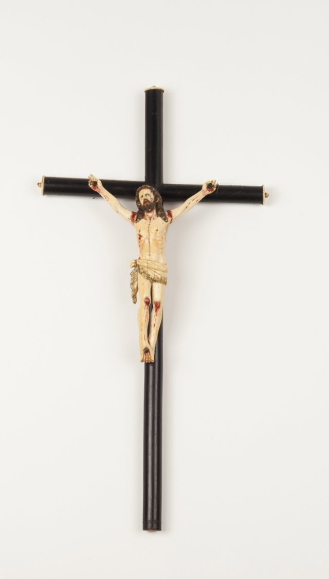 A 19th century carved ivory sculpture of Christ