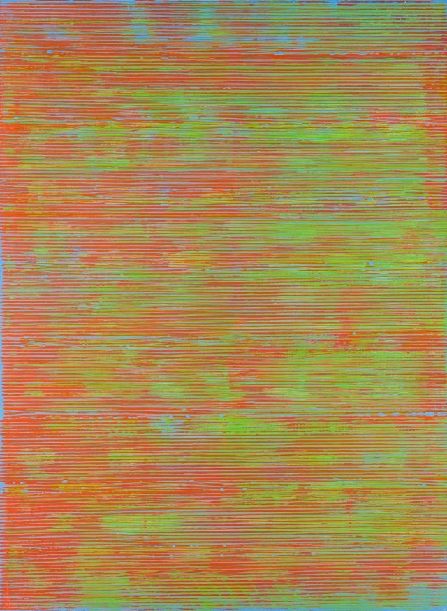Untitled (blue, orange, red and green)