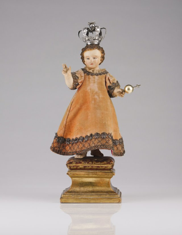 An 18th century Portuguese sculpture of Child Jesus