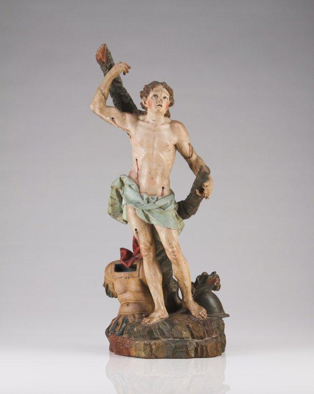 An 18th century Portuguese sculpture of Saint Manuel