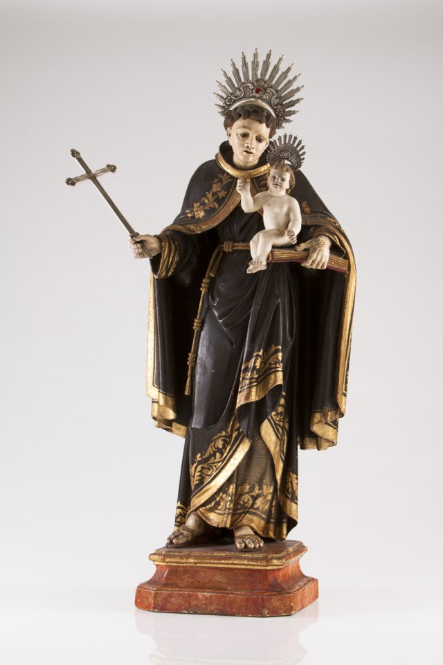 A large Portuguese 18th century sculpture of Saint Anthony