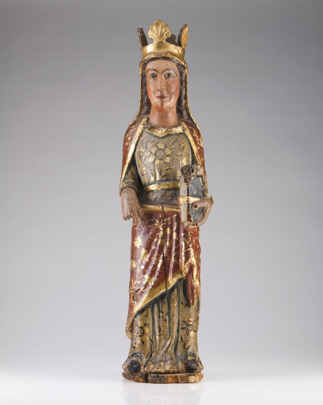 A 16th century (?) Spanish sculpture of a saint